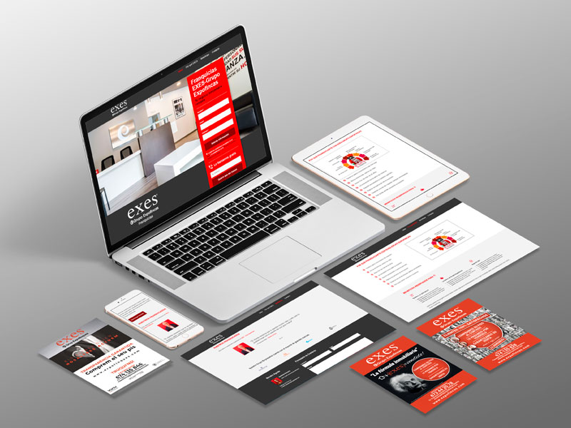 landing page y flyers
